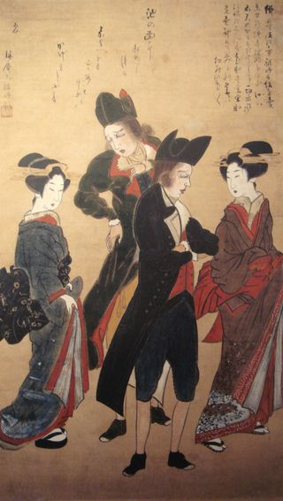 Dutchmen_with_Courtesans_Nagasaki_c1800