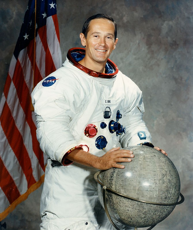 Charles Duke family picture on moon 4