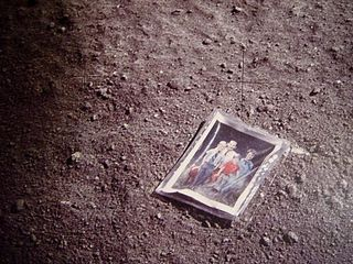 Charles Duke family picture on moon 2